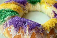 All Hail the King Cake! By Seale Ballenger. A Mardi Gras - Fat Tuesday favorite.