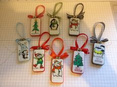 Ornaments...I have some dominos & even have some of these stamps & lots of sharpies!