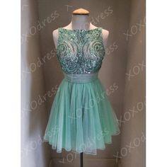 Short Prom Dress Gorgeous Sexy Vback Beaded Short von XOXOdress, $129.00