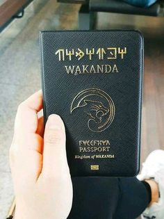 Wakanda passport cover