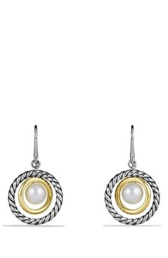 David Yurman Pearl Drop Earrings with Gold available at #Nordstrom