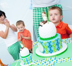 Argyle preppy golf party birthday parti, golf cakes, 1st birthday, kid birthdays, golf parti, kid parti, parti idea