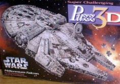 This Millenium Falcon 3D puzzle provides hours of fun for the Jedi in your household... ;)