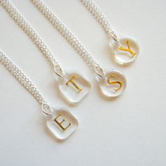 Love these...so pretty and minimal! - Enchanted Petite Initial Necklace - Personalized Monogram Jewelry