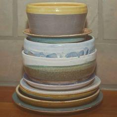 Algumas peças finalizadas no curso de cerâmica! ❤ #ceramica #pottery #tornoceramica #clay