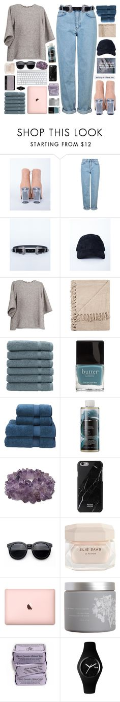"""updates rtd"" by untake-n ❤ liked on Polyvore featuring Topshop, Linum Home Textiles, Butter London, Christy, Korres, Mapleton Drive, Native Union, Elie Saab, NARS Cosmetics and red flower"