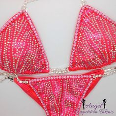 Tiger crystal ab and light pink. Hologram neon coral. Light pink crystal trim