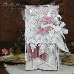 """Today I am sharing two wonderful birthday cards featuring some gorgeous Scrapiniec pieces from the """" Fern """" collectio. Birthday Greeting Cards, Birthday Greetings, Birthday Wishes, Card Tags, I Card, Bag Display, Shabby Chic Cards, White Gift Boxes, Vintage Paper"""