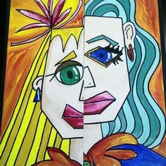 Art: As you can see from the painting above Pablo Picasso is important. Pablo Picasso is a artist from Spain who Invented different types of art. Picasso's paintings were often mistaken for a child's. Frida Kahlo is also an important artist from Spain. She painted her life's sadness by showing self portraits of being depressed.