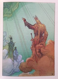 "Moebius' illustrations to Dante's ""La Divina Commedia"""