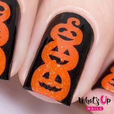 Pumpkin Topiary Stencils for Nails Halloween Nail Stickers | Etsy Cute Halloween Nails, Halloween Nail Designs, Holloween Nails, Halloween Vinyl, Holiday Nail Designs, Metallic Nail Polish, Acrylic Nails, Cotton Candy Nails, How To Cut Nails
