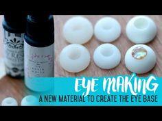 Eye making for dolls use of UV resin for the eye base Eye Tutorial, Doll Tutorial, Diy Doll Eyes, Biscuit, Uv Resin, Diy Resin Eyes, How To Make Resin, Diy Wings, Eye Base