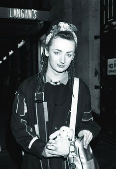 Singer Boy George leaving Langan's restaurant in 1982, London. (December 31, 1981 - Source: Dave Hogan/Getty Images Europe)