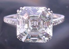 1922 Vintage Cartier asscher-cut diamond, 5.5 cts.