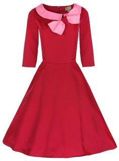 Lindy Bop Kleid Parisisch 50er Jahre Cassy, Rot (keine punkte), DE 34 (EU 36) Lindy Bop,http://www.amazon.de/dp/B00CJ94G4Q/ref=cm_sw_r_pi_dp_rs5Htb1X13KSRRTW
