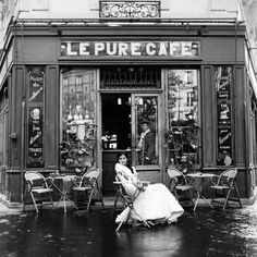 come spy with me: cafe society Old Paris, Paris Art, Rodney Smith, Parisian Cafe, Shop Fronts, Vintage Photography, Belle Photo, Black And White Photography, Vintage Shops