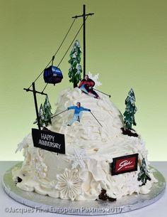 Mountain Ski Trip Cake