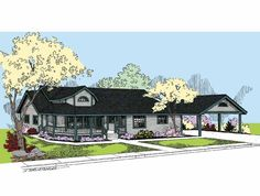 Country House Plan with 2131 Square Feet and 3 Bedrooms from Dream Home Source   House Plan Code DHSW68000