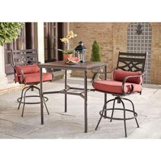 hampton bay middletown 3 piece motion high patio dining set d11200 3pc