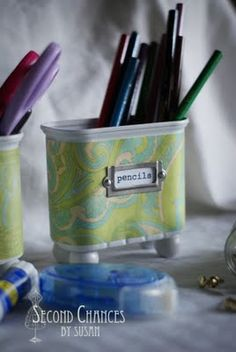 DIY- Repurposed SPAM containers- cute