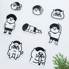 Transparent sticker 8 into the group - Yushilab - Stickers Line Sketch, Line Drawing, Character Drawing, Character Design, Food Graphic Design, Ads Creative, Baby Cartoon, Line Sticker, Cute Illustration