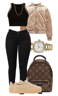 """""""Untitled #1429"""" by oshonsparkles ❤ liked on Polyvore featuring Rolex, Louis Vuitton, Puma and Bianca Pratt"""