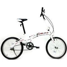 Compre já a sua Bicicleta Aro 20 Blitz Eco-City, Dobrável, Guidão Regulável, Quadro de Aço Carbono, Freios V-Brake, Até 90Kg – Branco, por R$ 698,00.