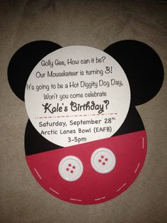 mickey mouse 3rd birthday invitations