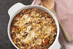 This easy casserole lets you enjoy all the flavour of Mexican stuffed peppers without the trouble of actually stuffing any peppers! Layering the ingredients in a casserole dish saves time and delivers big flavour in this cheesy Mexican Unstuffed Pepper Casserole recipe.