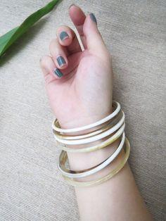 Bracelet Set, Bangle Bracelet Set, Horn Bracelet, Horn Jewelry, Bangle Bracelets, Boho Bracelet, Bohemian Bracelet, 7pk, many sizes