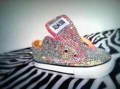 31ba3a7488ff Custom made bling baby girl converse Baby Boots