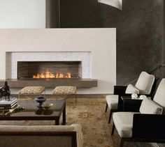 "Spark Modern Fires Linear Burner System, 48"", W/ Electric Ignition - modern - Fireplaces - Home Furniture and Patio"