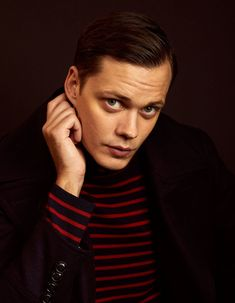 Bill Skarsgård promoting Nine Days poses at the Pizza Hut Lounge on January 2020 in Park City, Utah at the Sundance Film Festival. Bill Skarsgard Hemlock Grove, Sundance Film Festival, Future Husband, Christ, Poses, Actors, My Love, Instagram, Kawaii Shoes