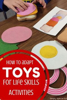 Easy way to adapt Melissa & Doug toys for your life skills lessons, and FREE visuals!