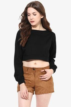 2211c6347cf Miss Chase Casual Full Sleeve Solid Women s Black Top Big And Beautiful