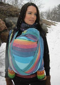 Girasol double rainbow creme weft yay @paxbaby #paxbaby - azul, too!! LOVE THIS