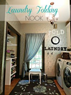 DIY: Beautiful Budget Laundry Room Folding Nook !
