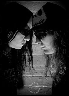 Joey Jordison and Corey Taylor   Ahh!!!!! My two favorite rockers. (':