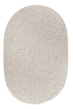 Amazon.com - Rhody Rug Solid Round Wool Rug, 6-Feet, Light Gray -