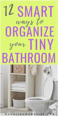 Bathroom organization ideas for your tiny bathroom! Declutter and organize your small bahroom for your family today! #handlinghomelife Small Bathroom Organization, Bathroom Hacks, Home Organization Hacks, Organizing Your Home, Bathroom Declutter, Bathroom Ideas, Organizing Ideas, Declutter House, Organising Tips