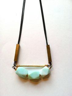 Cities in Dust: Green Opal Necklace $65