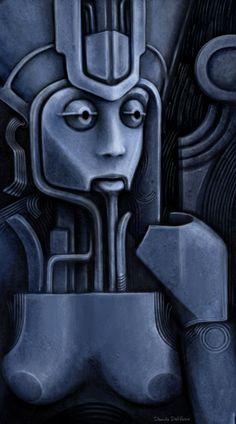 Psicomemorie A29 - 2010 - © Daniele Del Rosso - #art #artist #painting #contemporaryart #visualarts #psicomemorie #illustration #surrealismart #surrealism #digitalart #danieledelrosso #blue