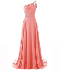 MYPROM Women's One Shoulder Beadings…