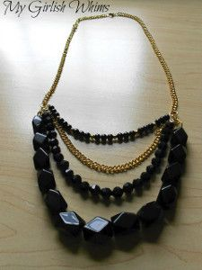 Multistrand Black Bead Necklace | AllFreeJewelryMaking.com