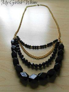 Multistrand Black Bead Necklace   AllFreeJewelryMaking.com