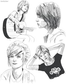 Life is Strange Max,Chloe and Kate draw by Tom Furber (1200×1502)