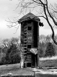 Old wooden silo in VA