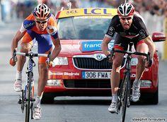 Stage 6 2012 Paris-Nice. Jens Voigt and Luis Leon Sanchez.  Classic!