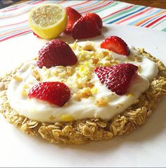 Strawberry Lemon-Cream Pie Breakfast Pizza | Swanky Foods Gallery