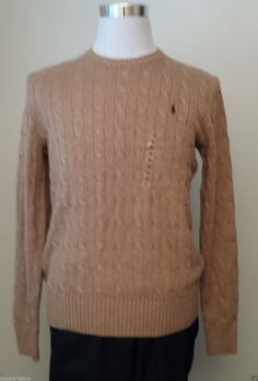 #ebay POLO Ralph Lauren men size M silk sweater brown color crew neck NWT RalphLauren withing our EBAY store at  http://stores.ebay.com/esquirestore